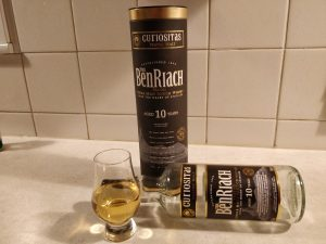 BenRiach Curiositas 10 Year Old bottle kill