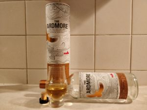 Ardmore Traditional Peated bottle kill