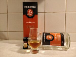 Springbank 10 Year Old bottle kill
