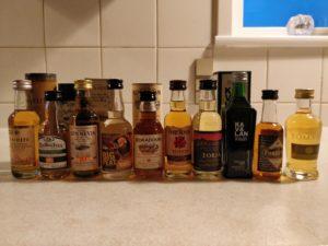 Whisky miniature flasker